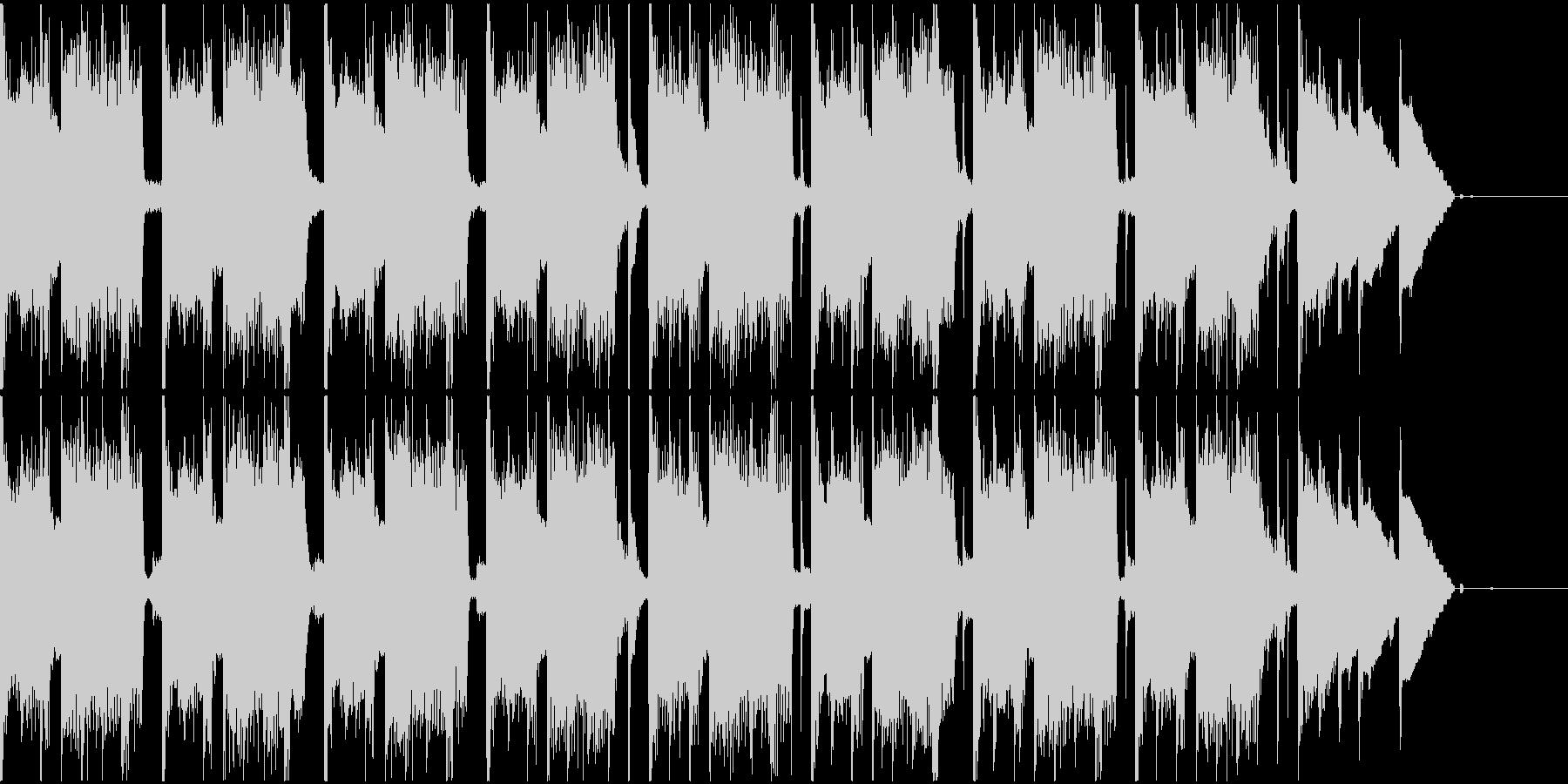 レトロゲームっぽいゲームオーバーBGMの未再生の波形