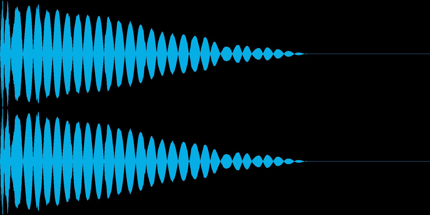 DTM Kick 94 オリジナル音源の再生済みの波形