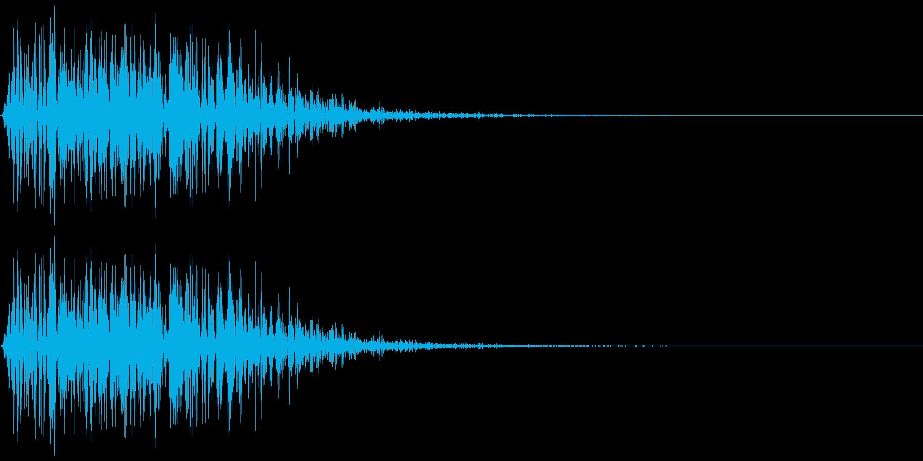 パンチ等の肉体的打撃音のイメージです。の再生済みの波形
