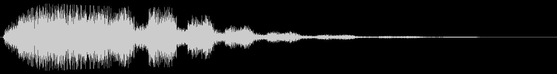 ブシュシュン(回転系音)の未再生の波形