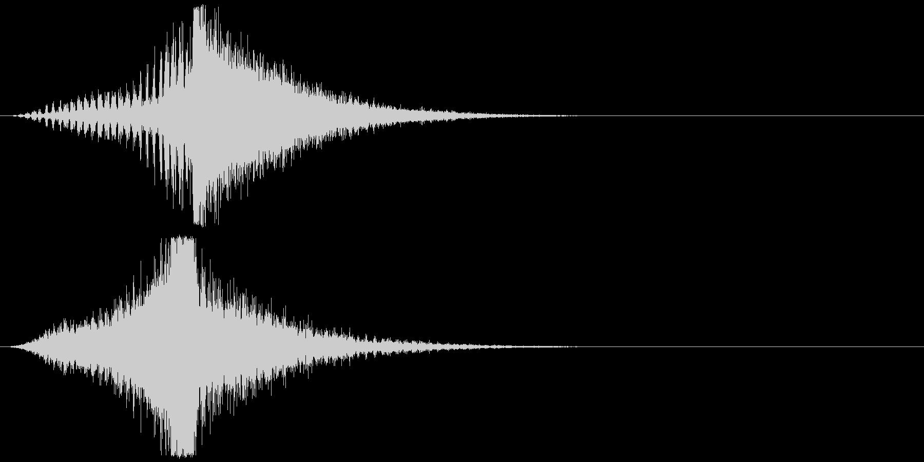 宇宙船・飛翔体#3通過 右〜左の未再生の波形