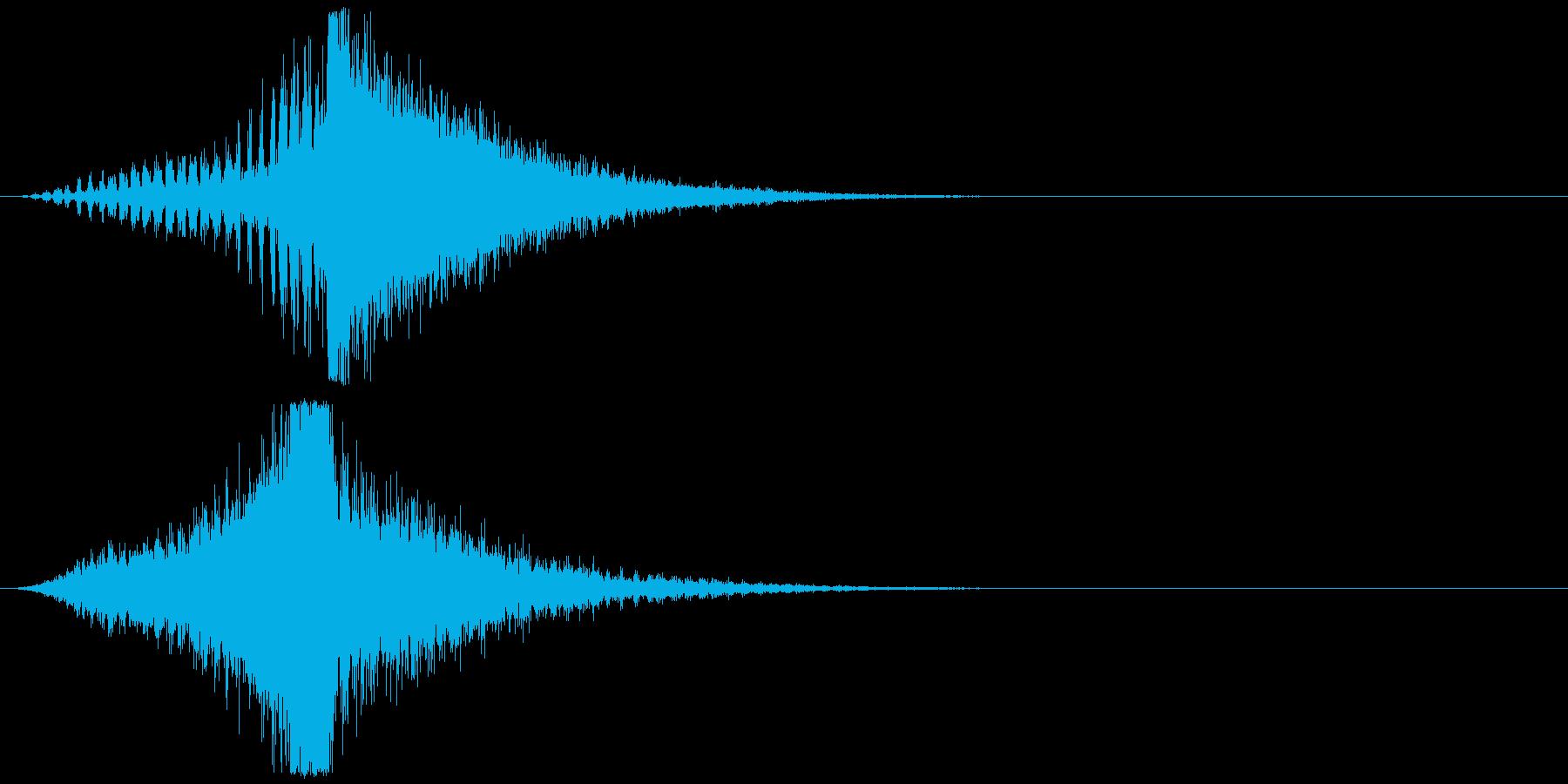 宇宙船・飛翔体#3通過 右〜左の再生済みの波形