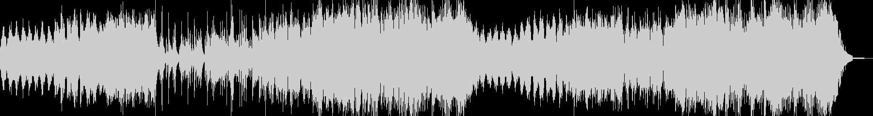 ハープとピアノ、管楽器のハーモニーの未再生の波形