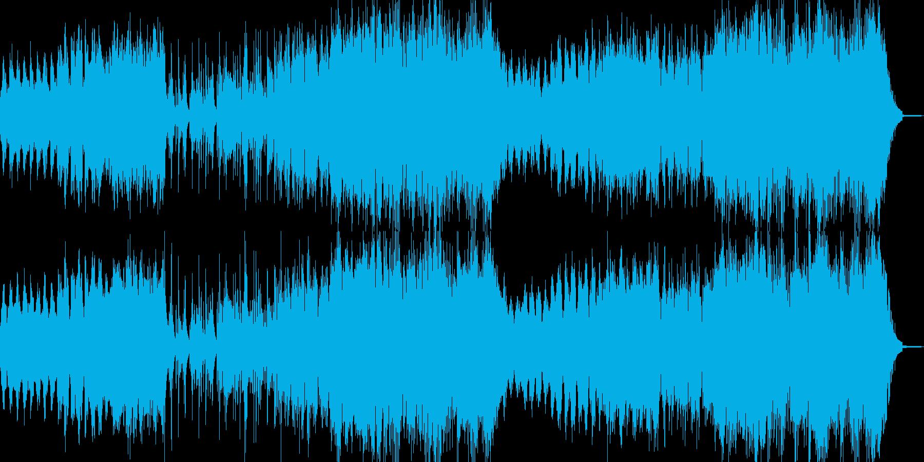 涙を浮かべるイメージのBGMの再生済みの波形