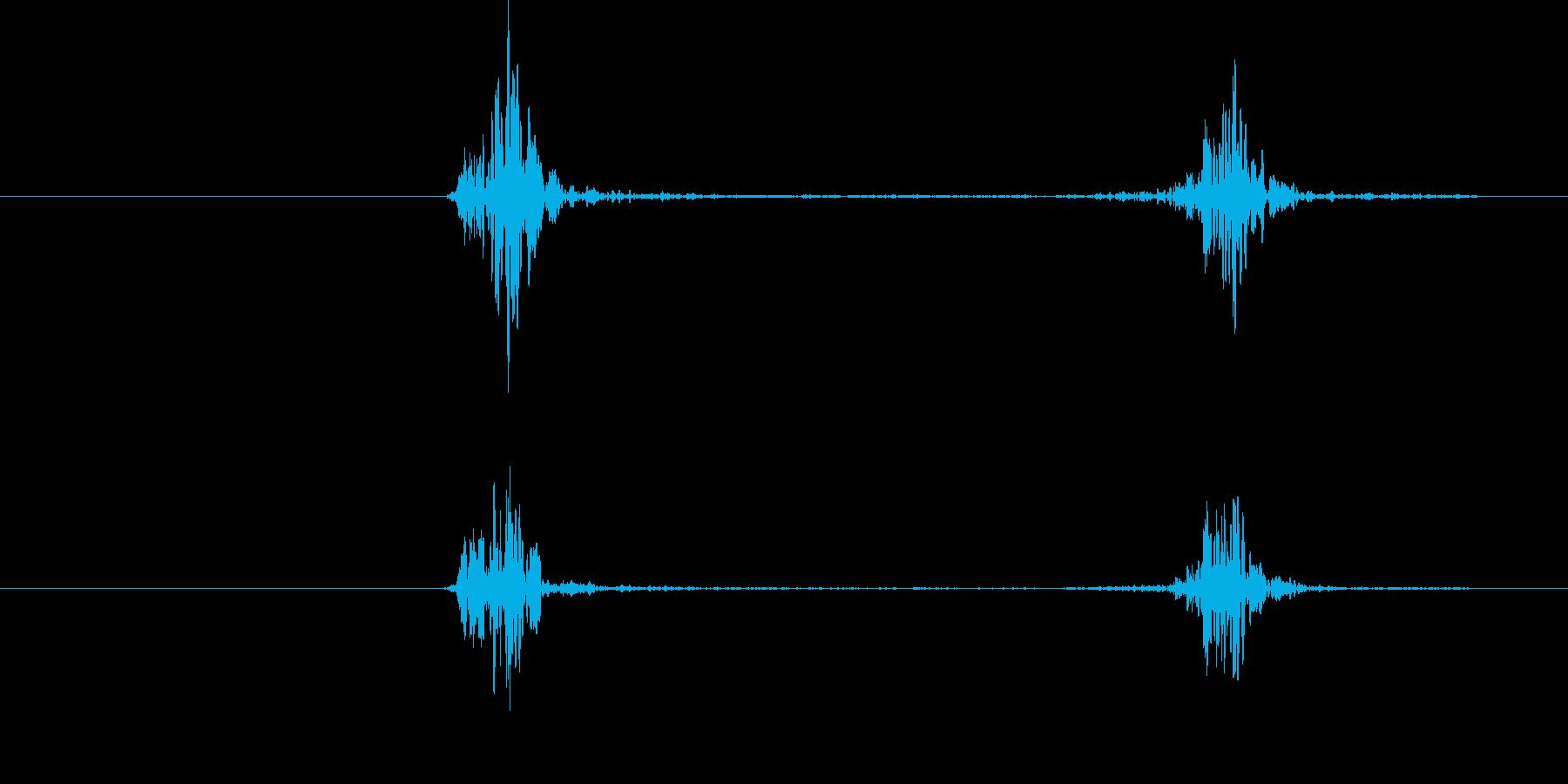 空振り、風切り音3(二連続)の再生済みの波形