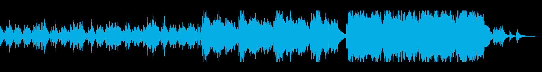 癒し系で感動的な静かなバラードの再生済みの波形