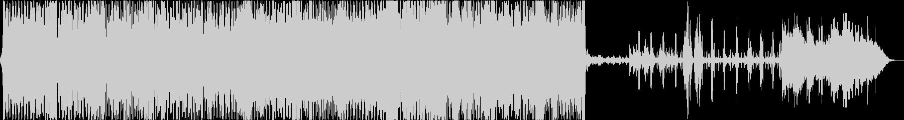 マイナーキーの切なく激しいロックの未再生の波形