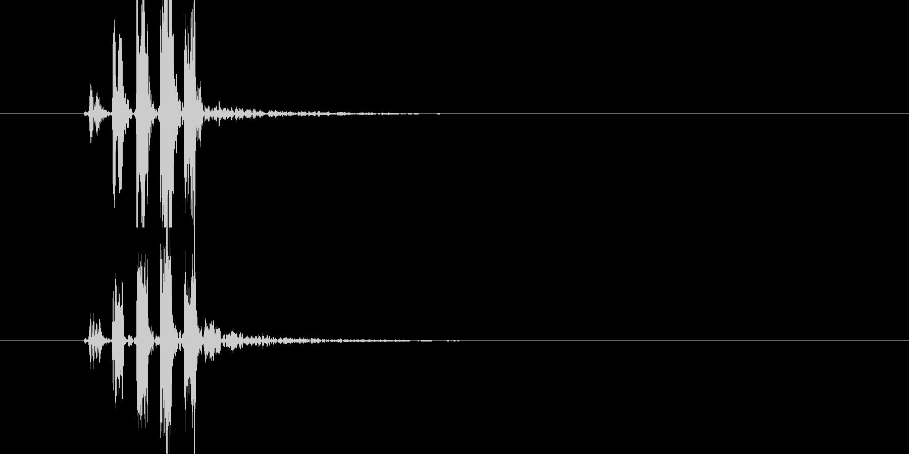 効果音(プっの連音)の未再生の波形