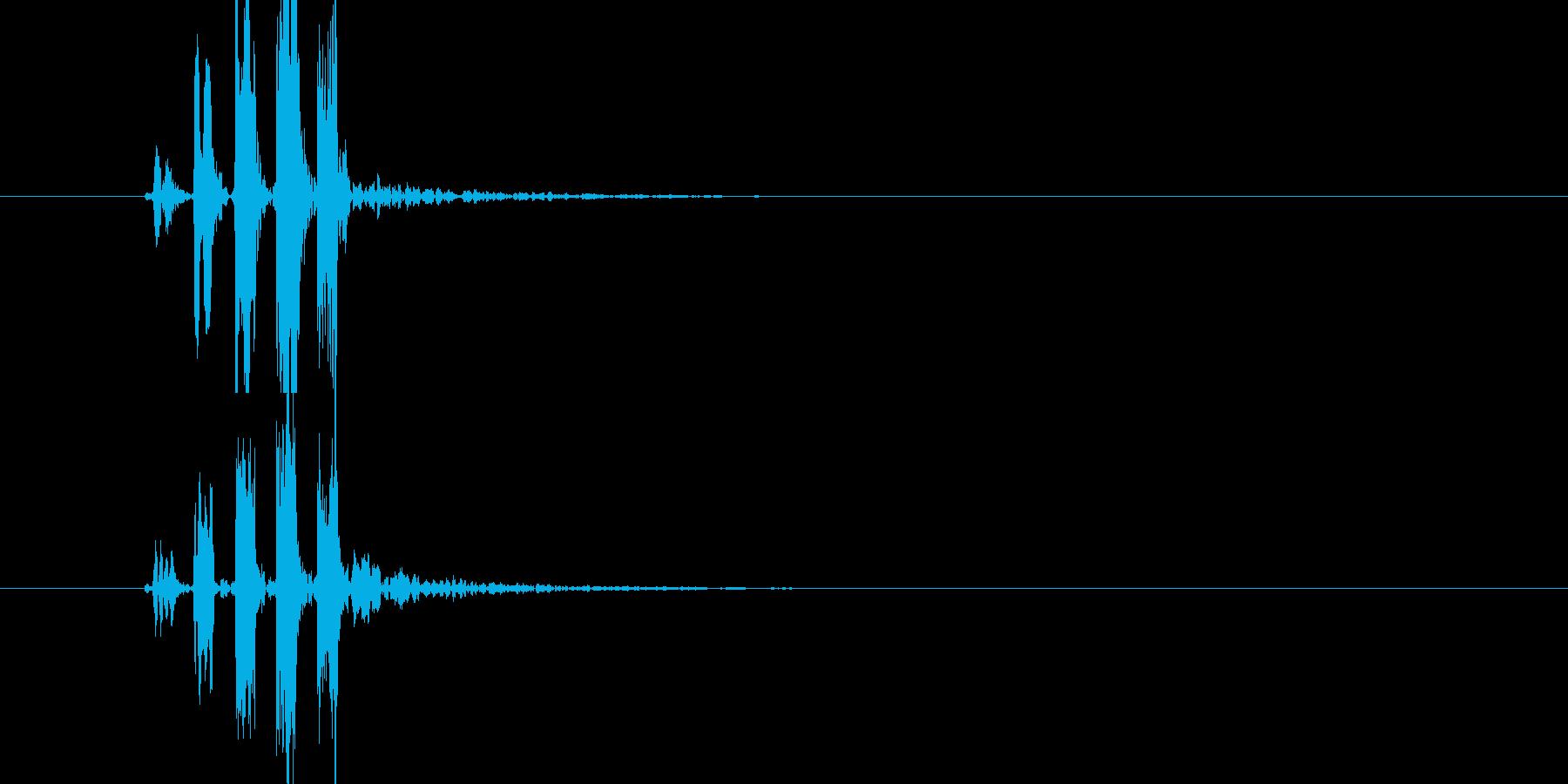 効果音(プっの連音)の再生済みの波形