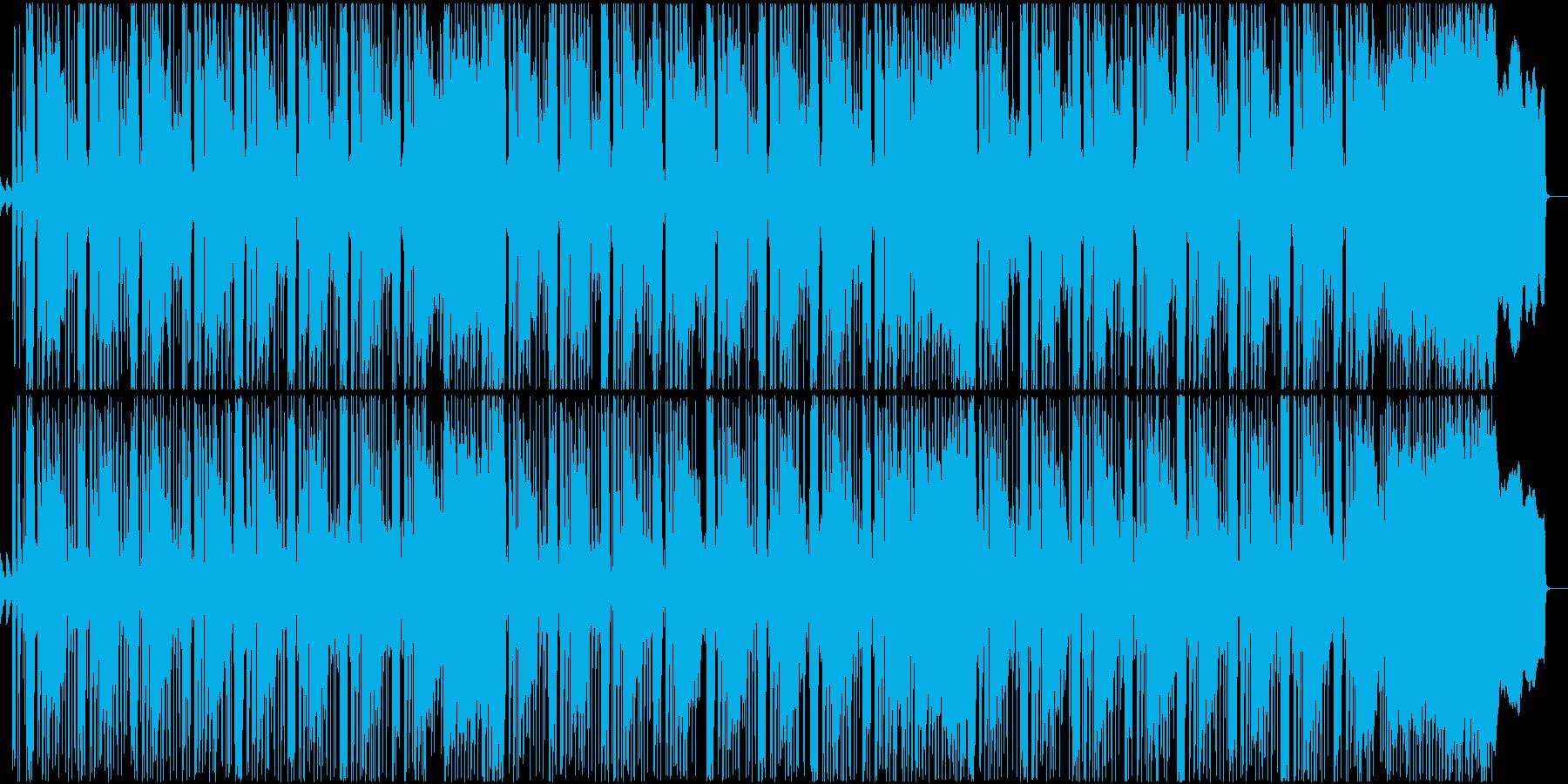 ダンサブルなミクスチャーロックサウンドの再生済みの波形
