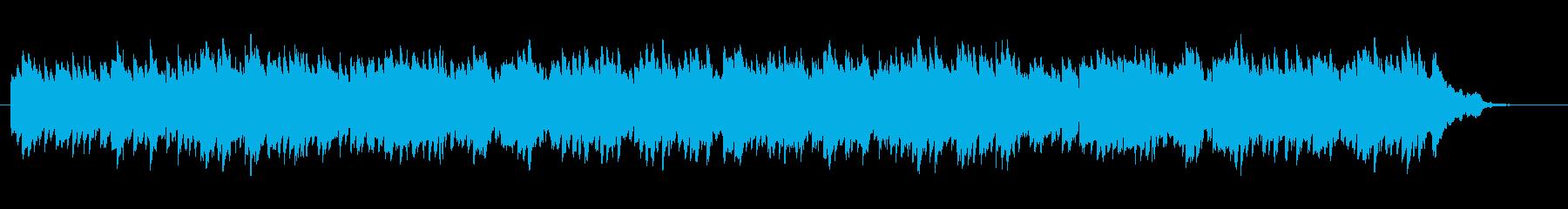 60秒動画広告、宣伝映像、感動的なピアノの再生済みの波形