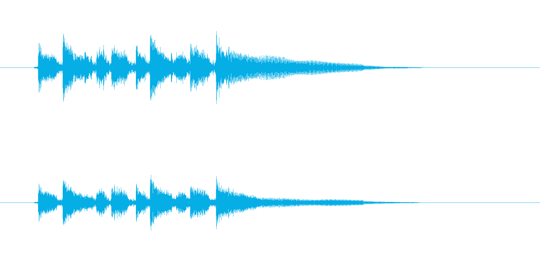 おしゃれなギター音(弦、弾く)の再生済みの波形