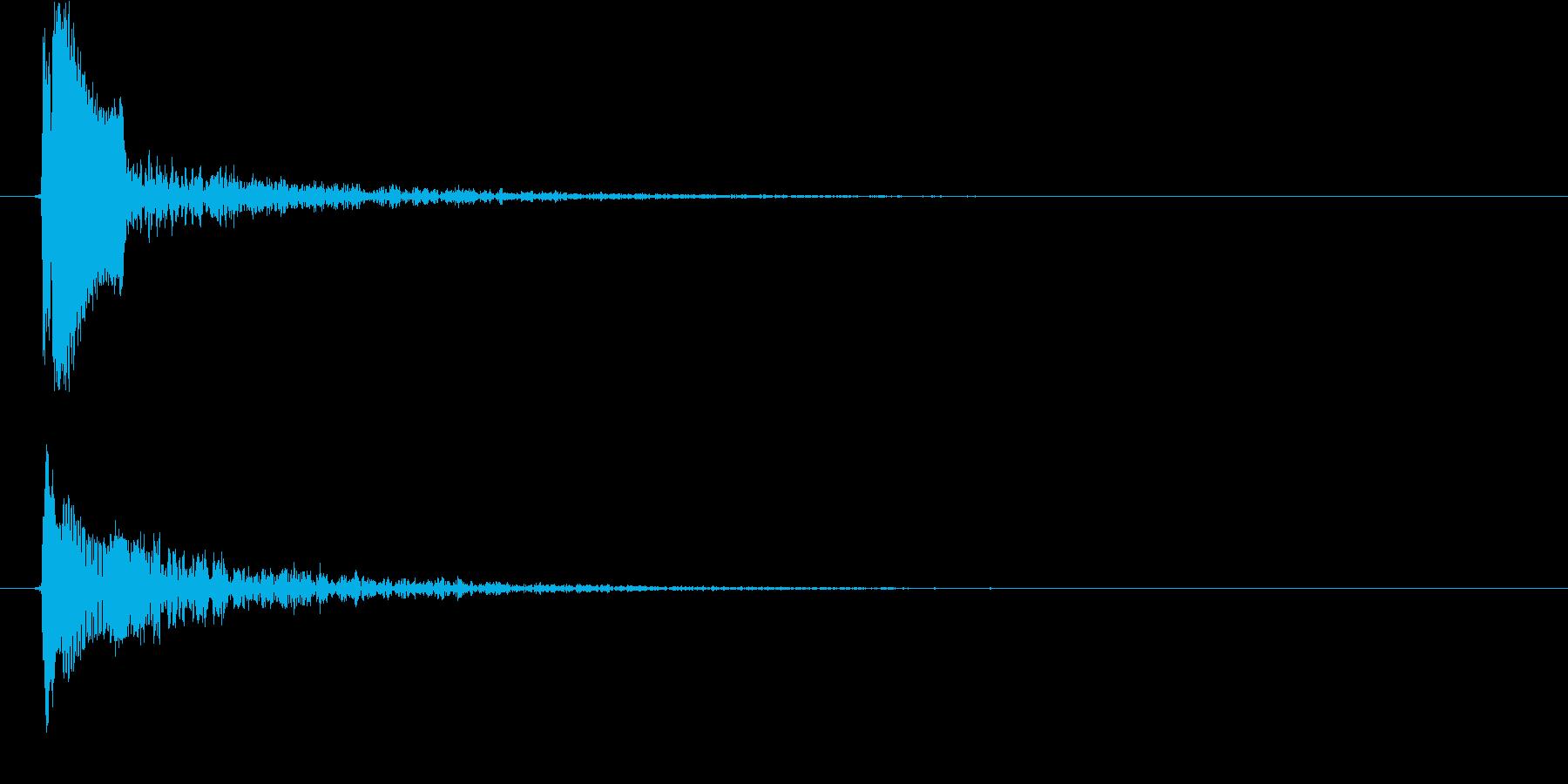 ピョイ(決定音、ポップ、低め)の再生済みの波形