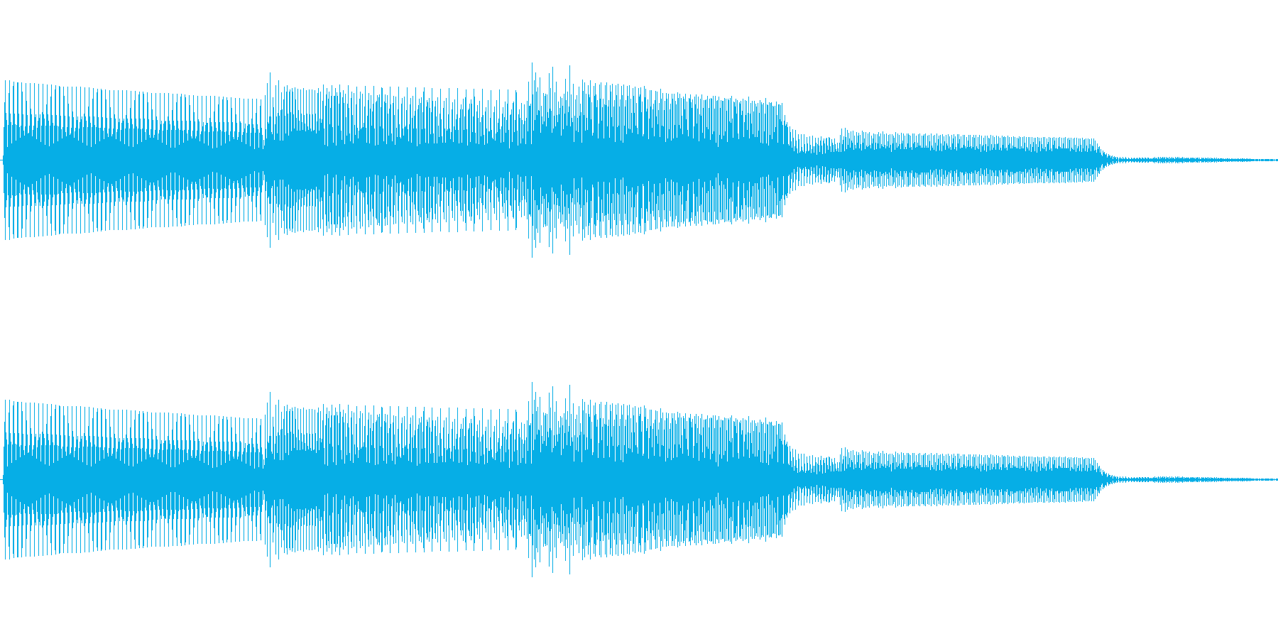 ボタン決定音システム選択タッチ登録B10の再生済みの波形