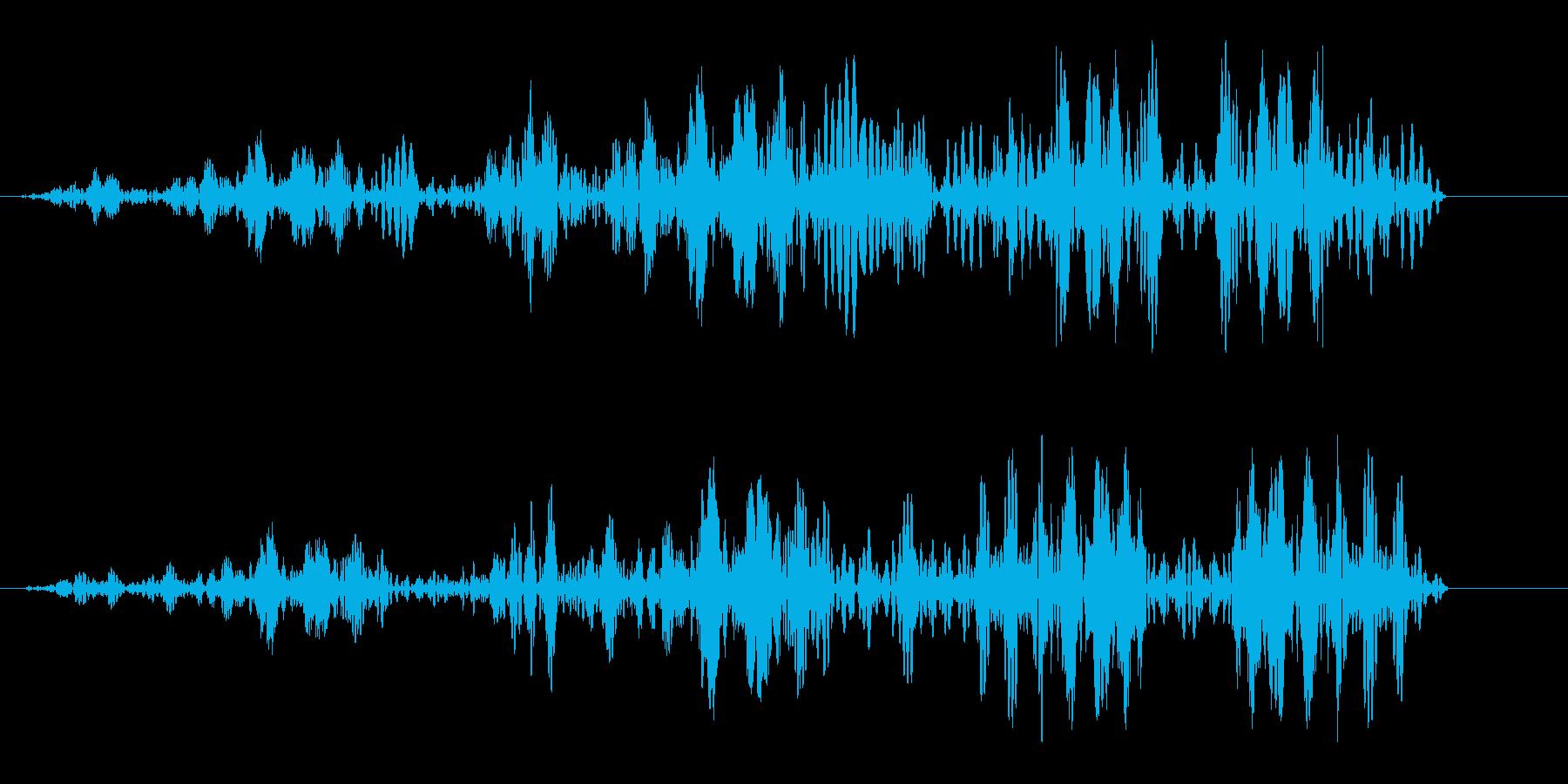 ヒュルヒュル(ロープが巻き取られる音)の再生済みの波形