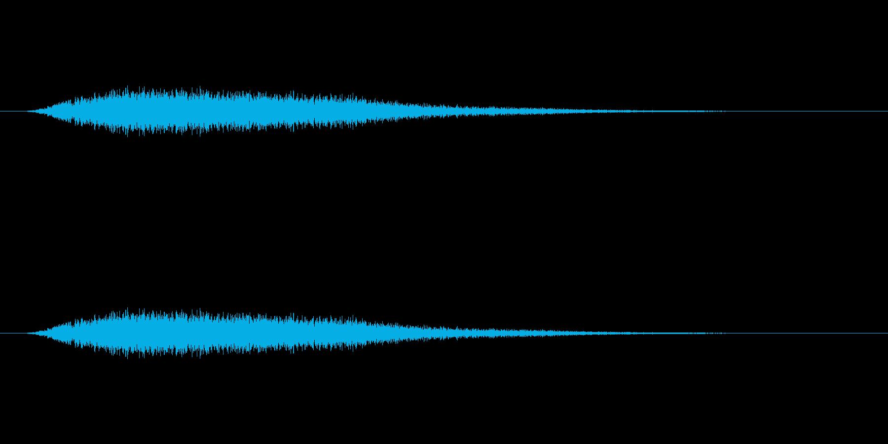 【風 合成02-1】の再生済みの波形