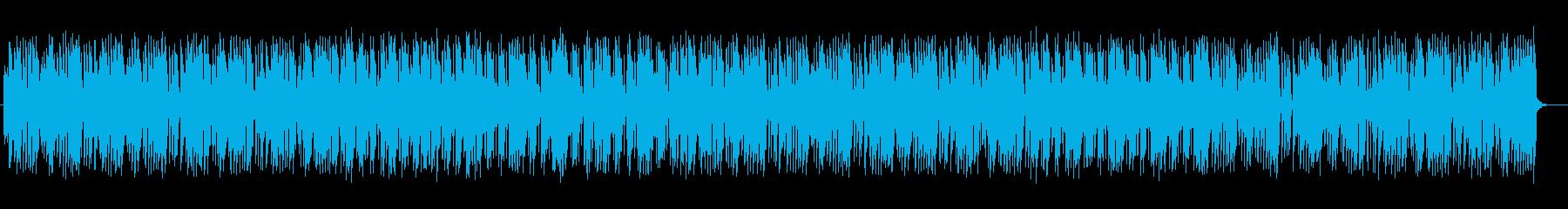 都会的なシンセのポップ曲の再生済みの波形