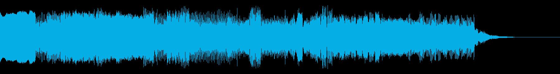 ファミコン風 エンディング系のジングルの再生済みの波形