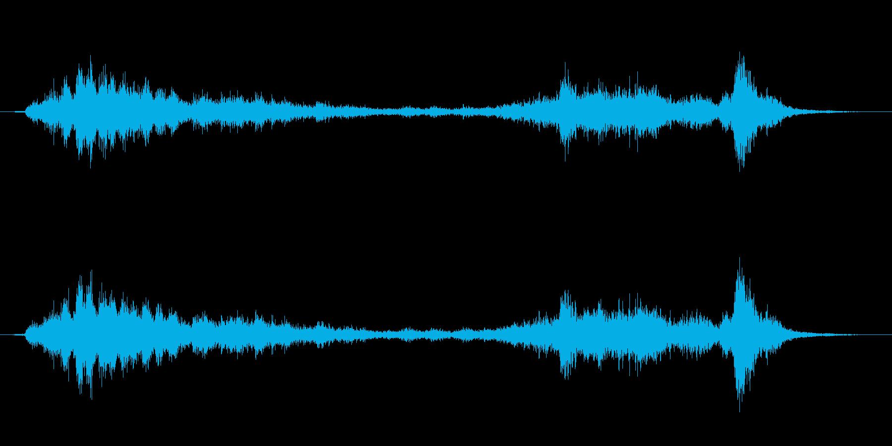 【生録音】ガラガラガラーガシャン(遠め)の再生済みの波形