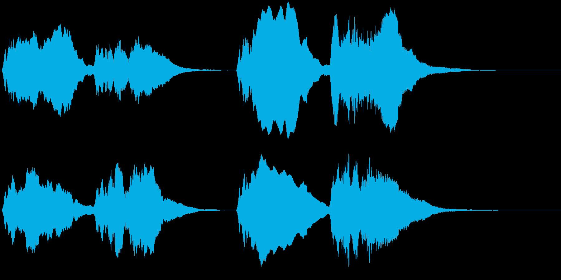 トッカータとフーガ ニ短調 冒頭の再生済みの波形