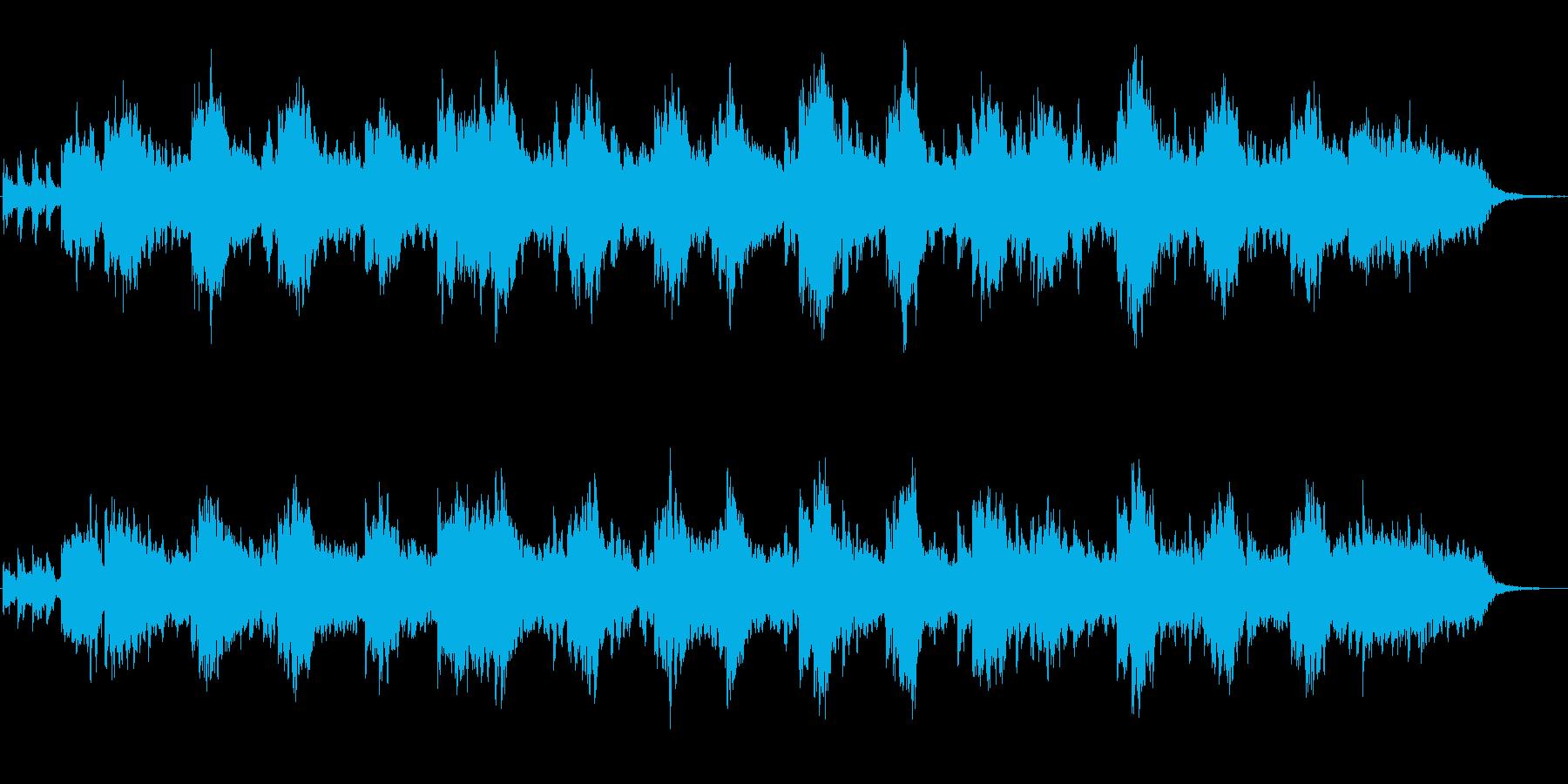 メルヘン風のほのぼのとしたジングルの再生済みの波形