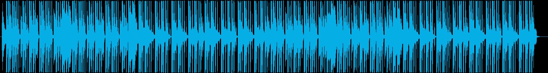 パズルゲームのスタート画面のテクノポップの再生済みの波形