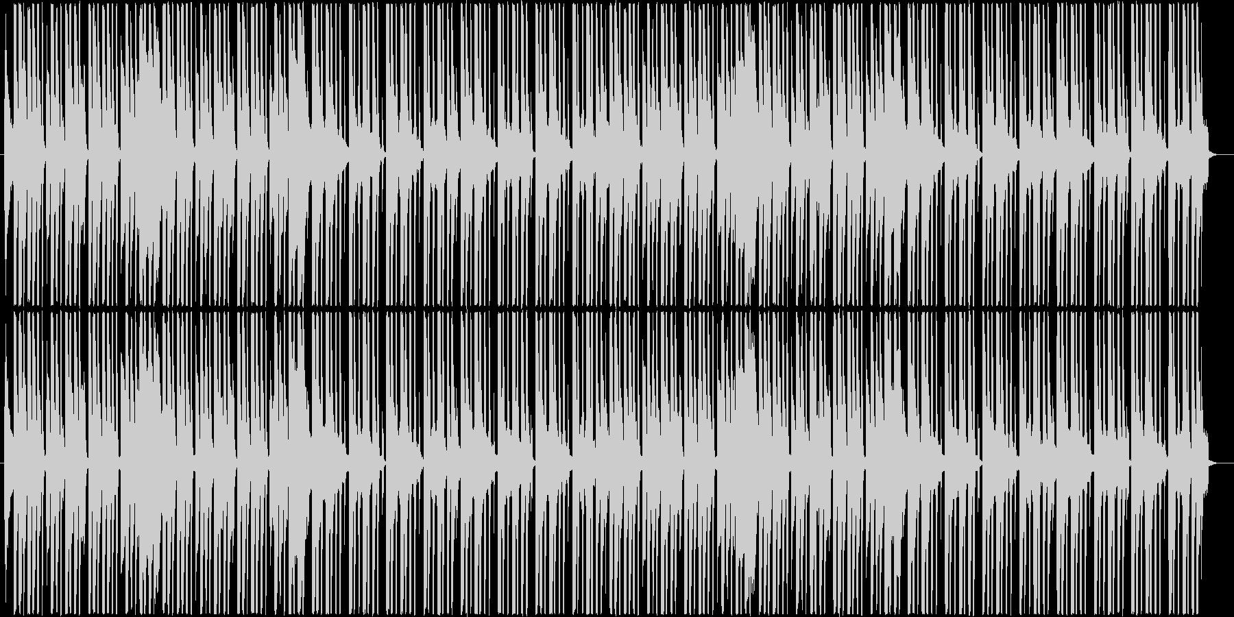 パズルゲームのスタート画面のテクノポップの未再生の波形