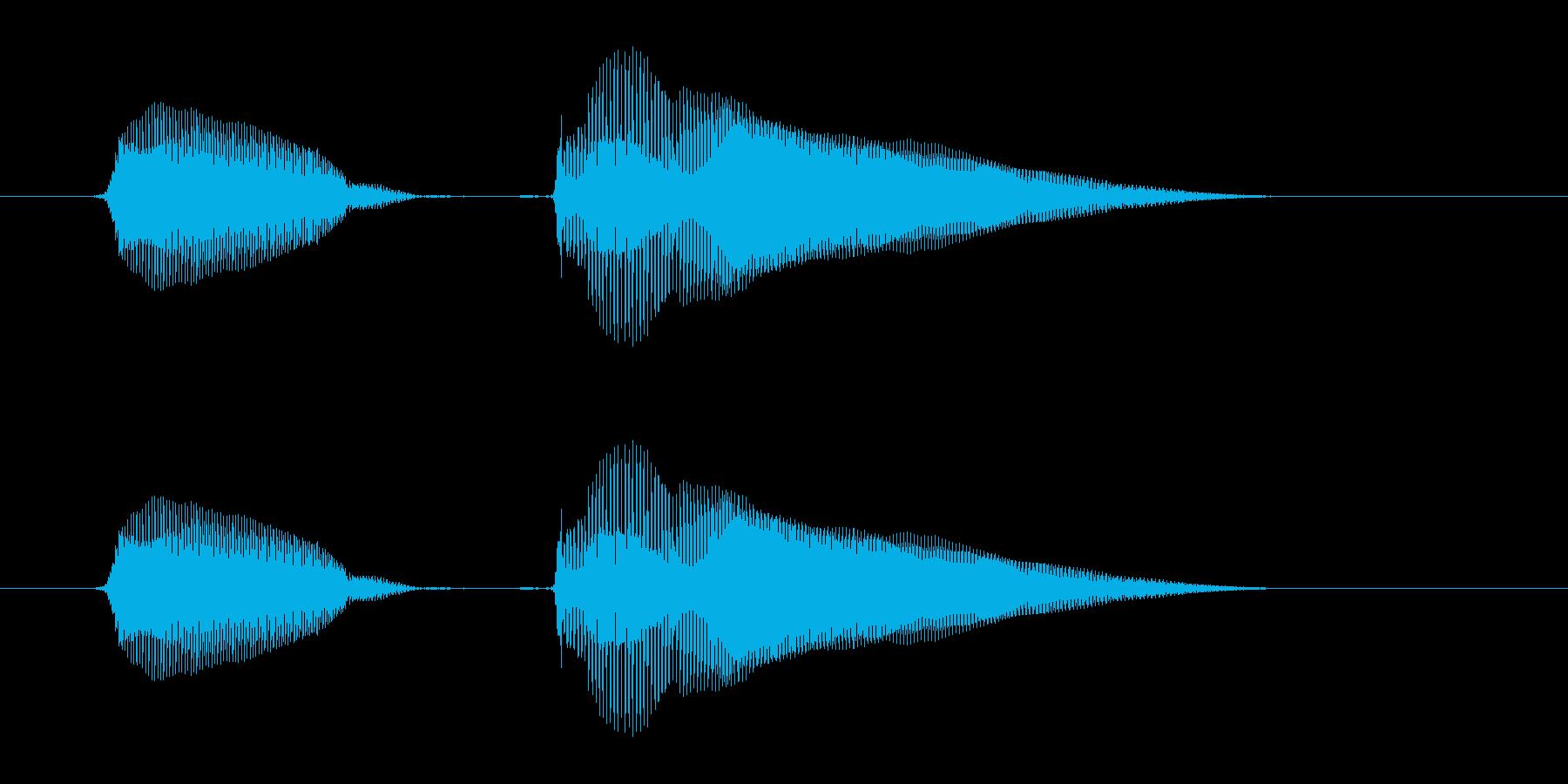 ピンポン!の再生済みの波形