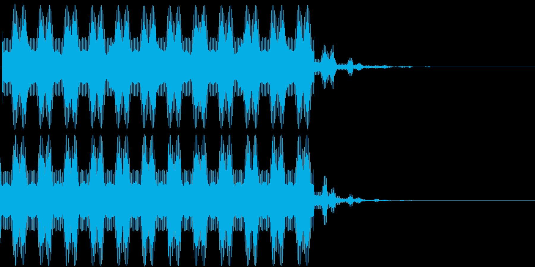 洗脳してる時のビーム音(シンプル)の再生済みの波形