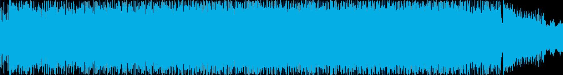 EDMとロックのBGMの再生済みの波形