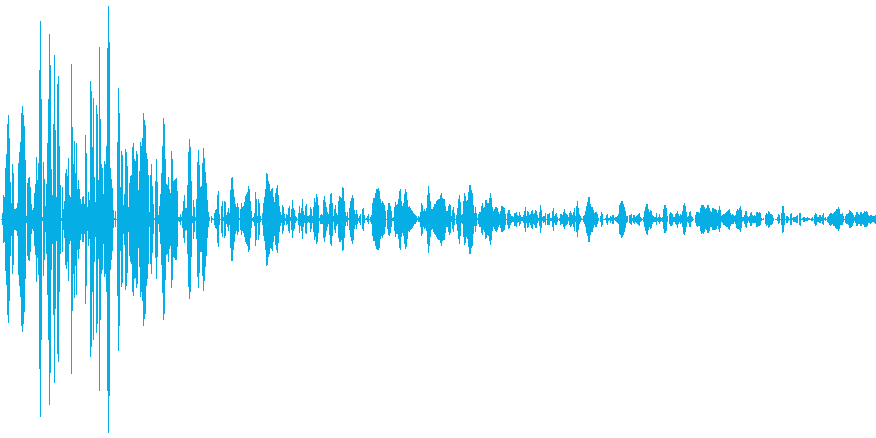 麻雀 打つ音の再生済みの波形