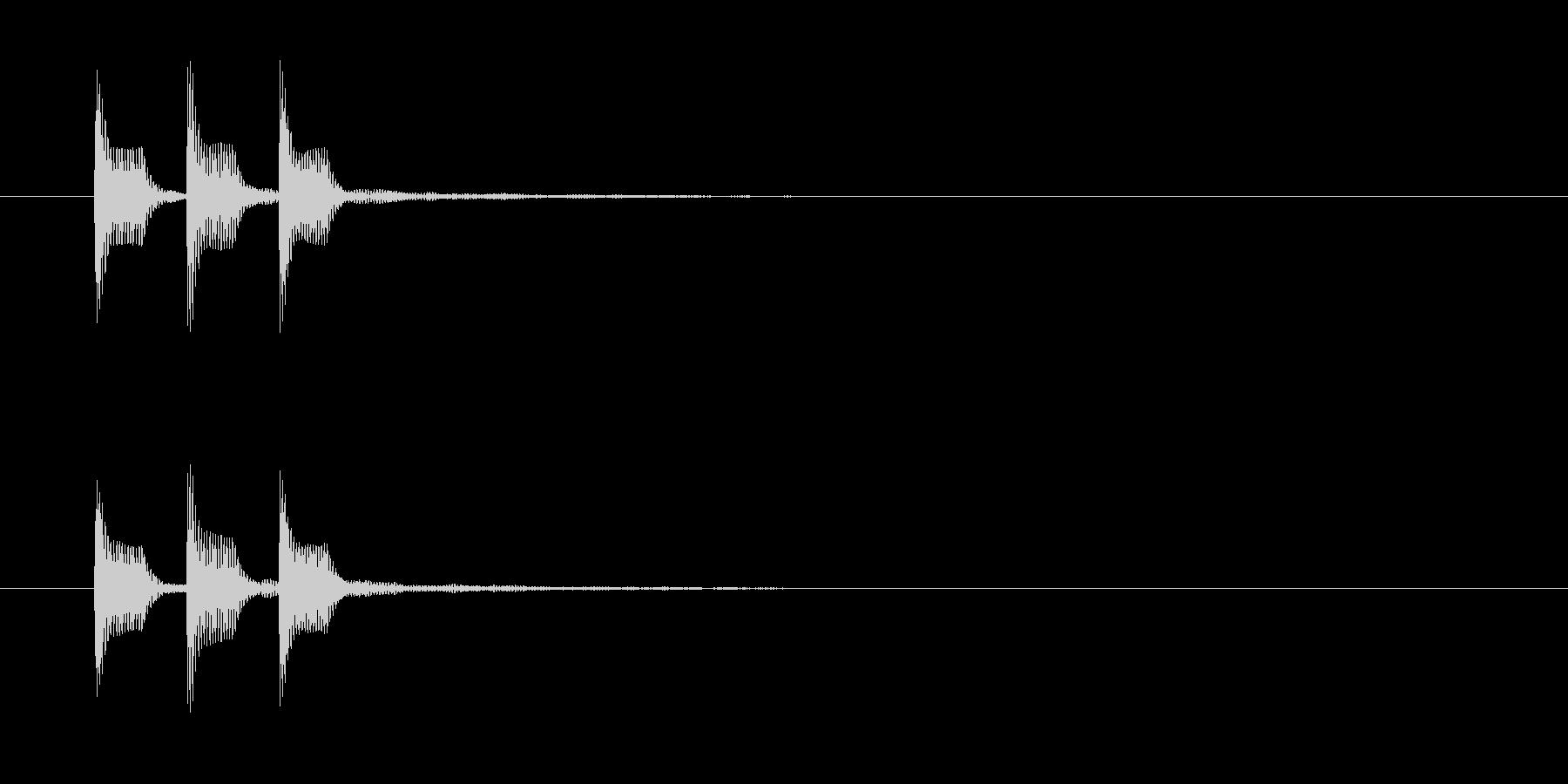 タッタッタンの未再生の波形