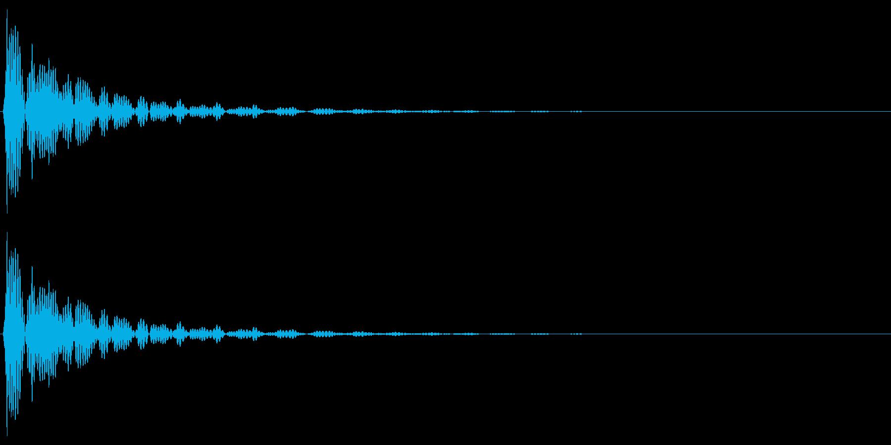 大太鼓 ドゥンッの再生済みの波形
