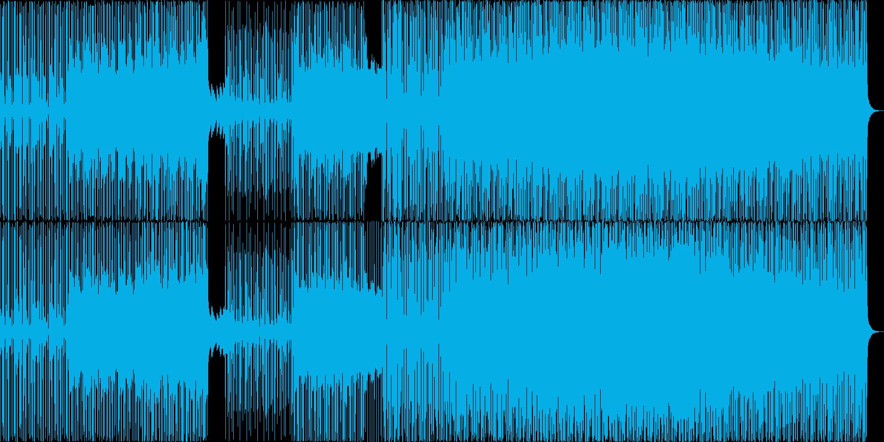 ダークなアート、グリッチ、アシッドテクノの再生済みの波形