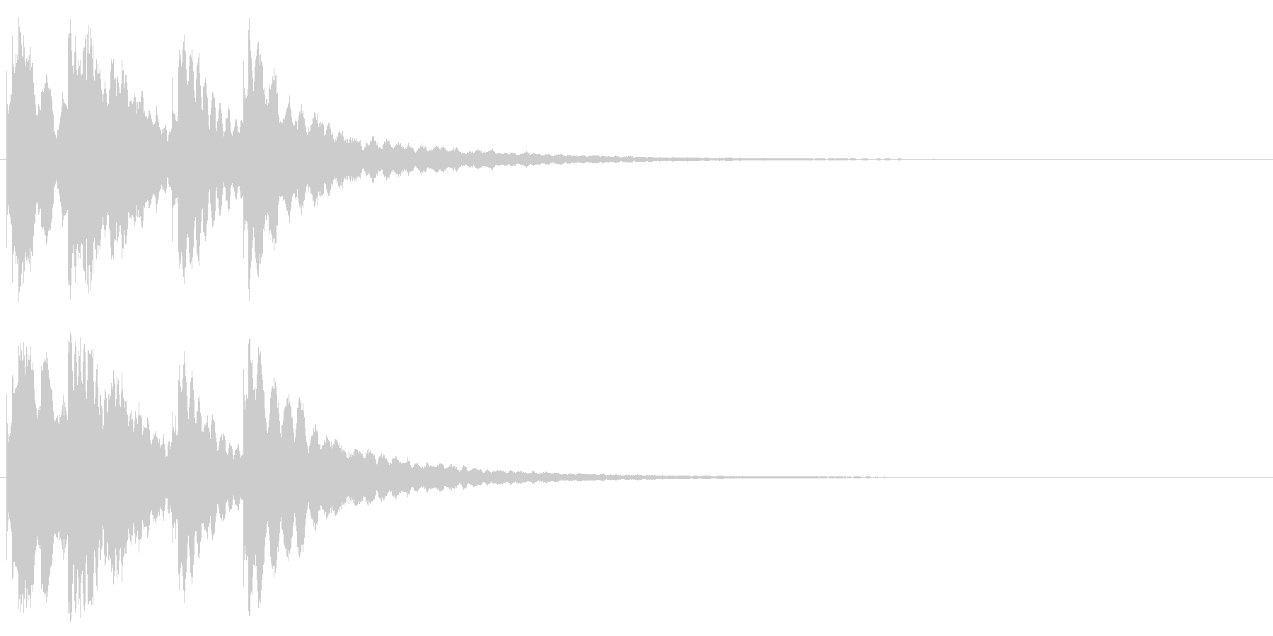 ジングル キラキラ系 その2の未再生の波形