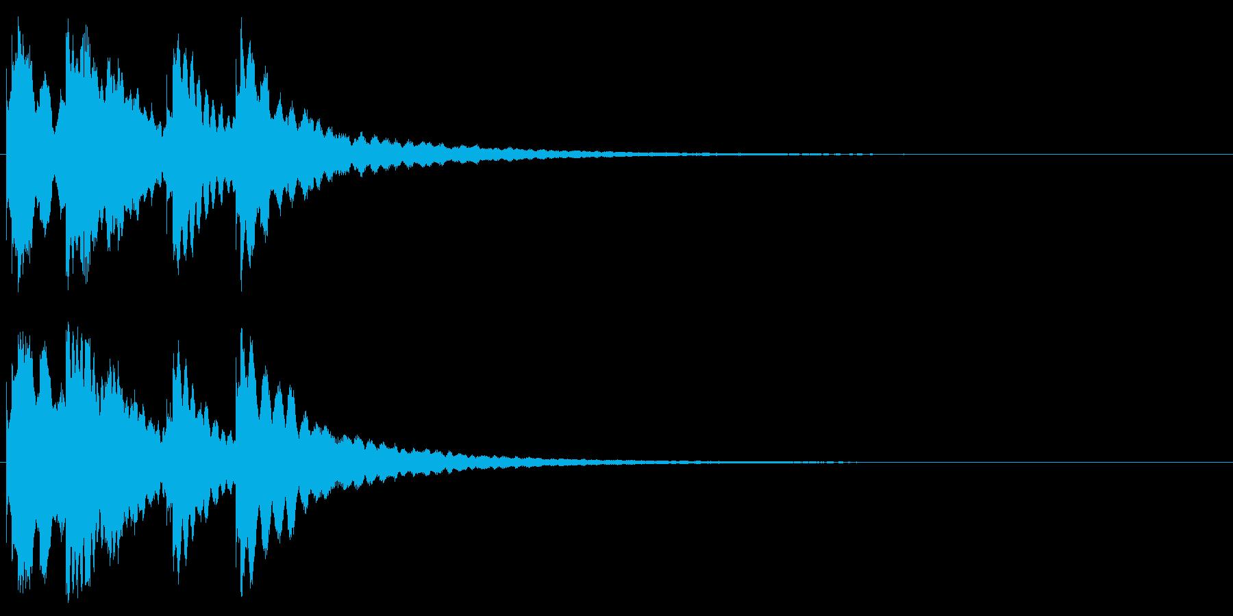 ジングル キラキラ系 その2の再生済みの波形