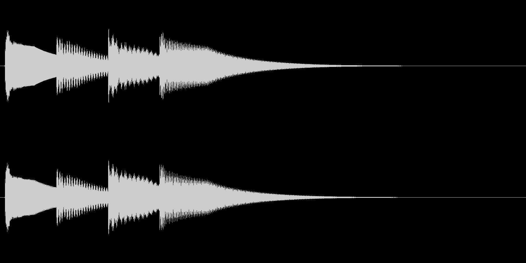 ティトンティトン/鉄琴のキラキラアラームの未再生の波形