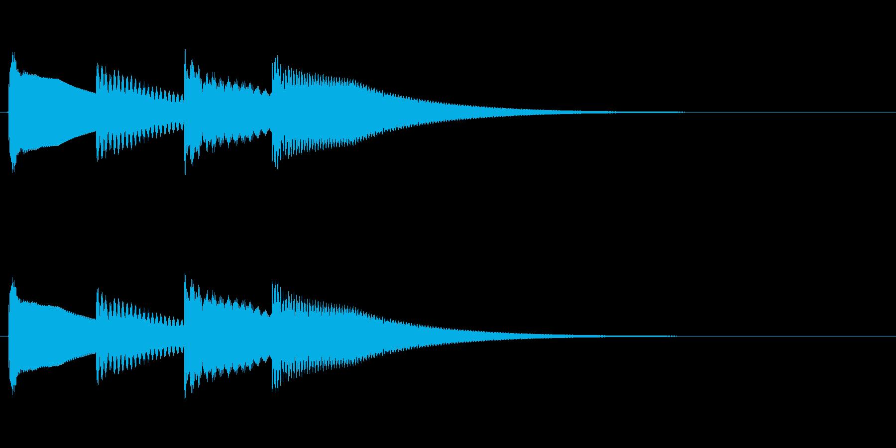 ティトンティトン/鉄琴のキラキラアラームの再生済みの波形