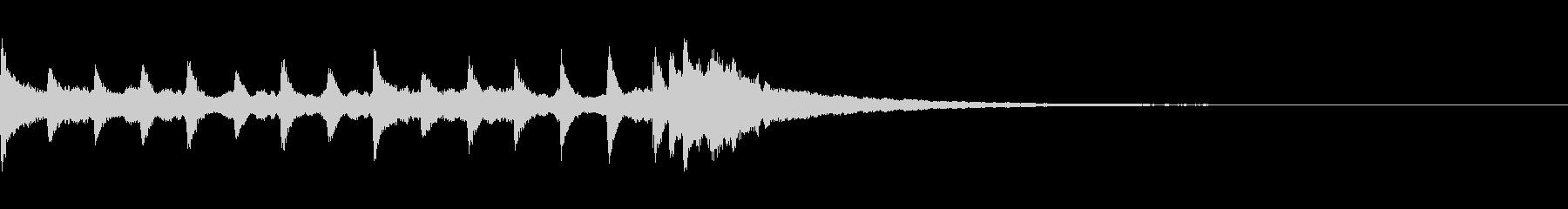 氷・クリスタルイメージの通知音の未再生の波形