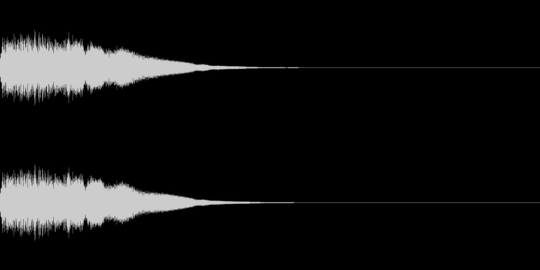 刀、剣、ロボット足音、機械音の未再生の波形