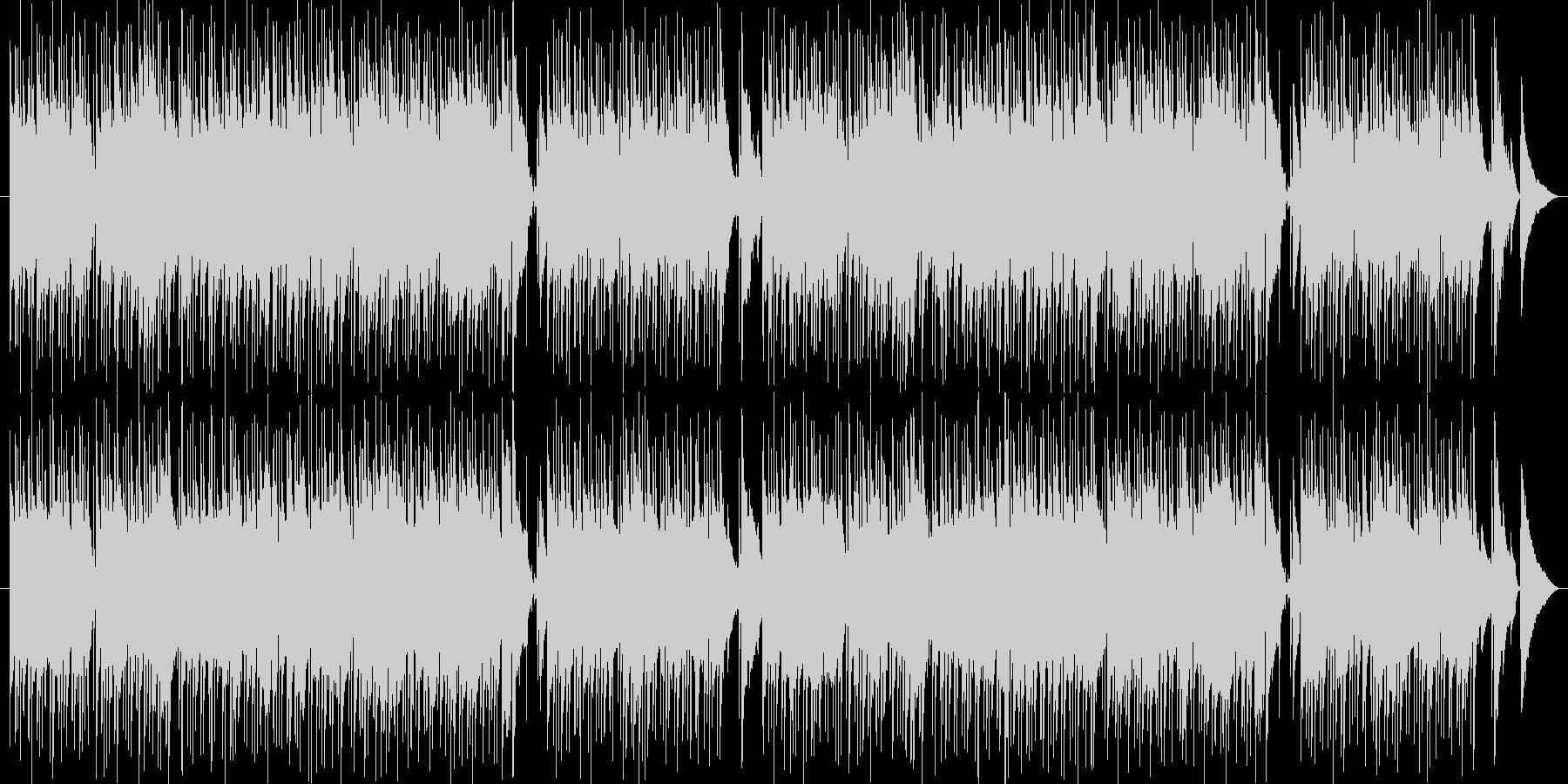 穏やかなフルートボサノバの未再生の波形