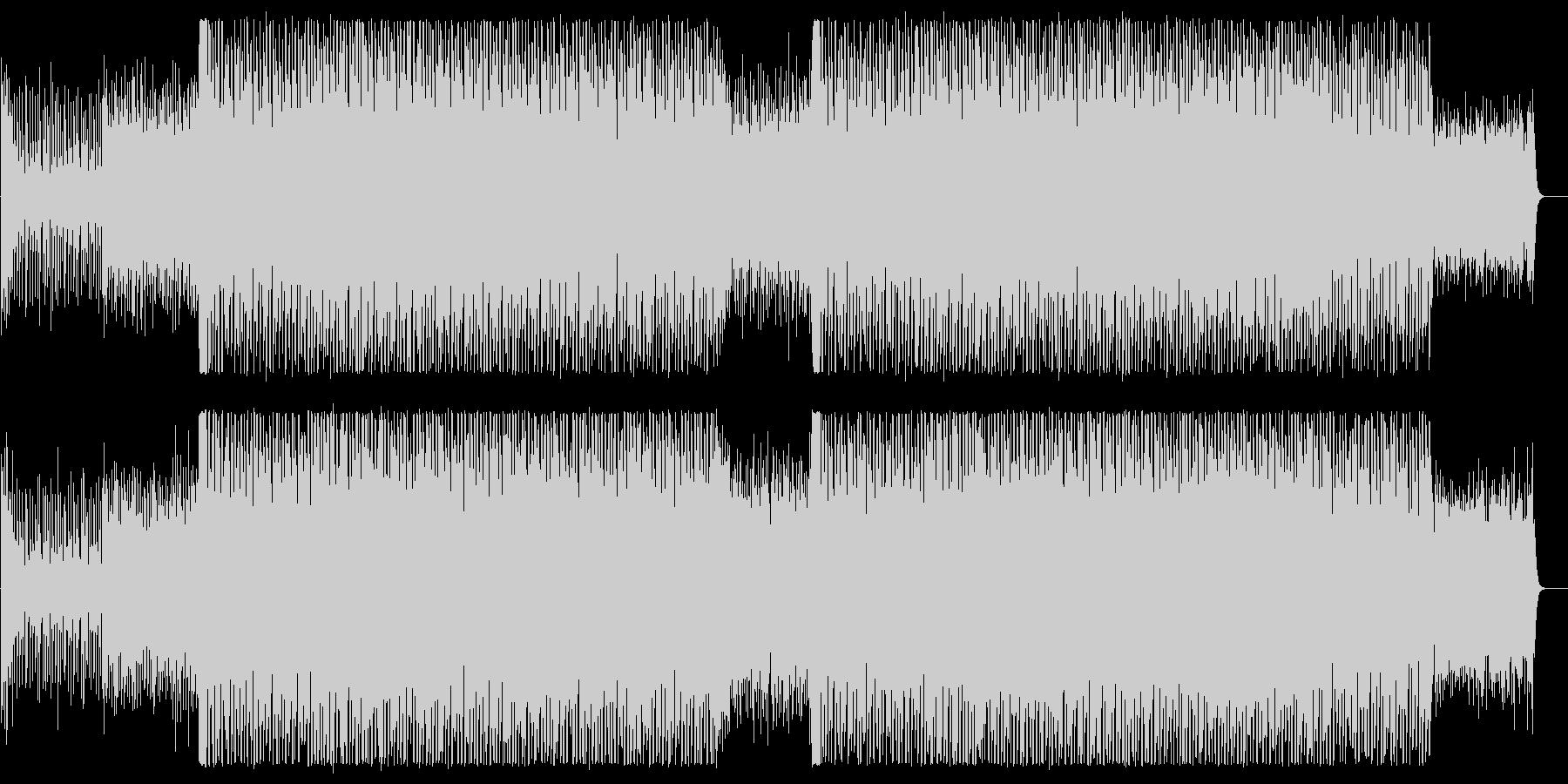 アナログシンセのテクノポップの未再生の波形