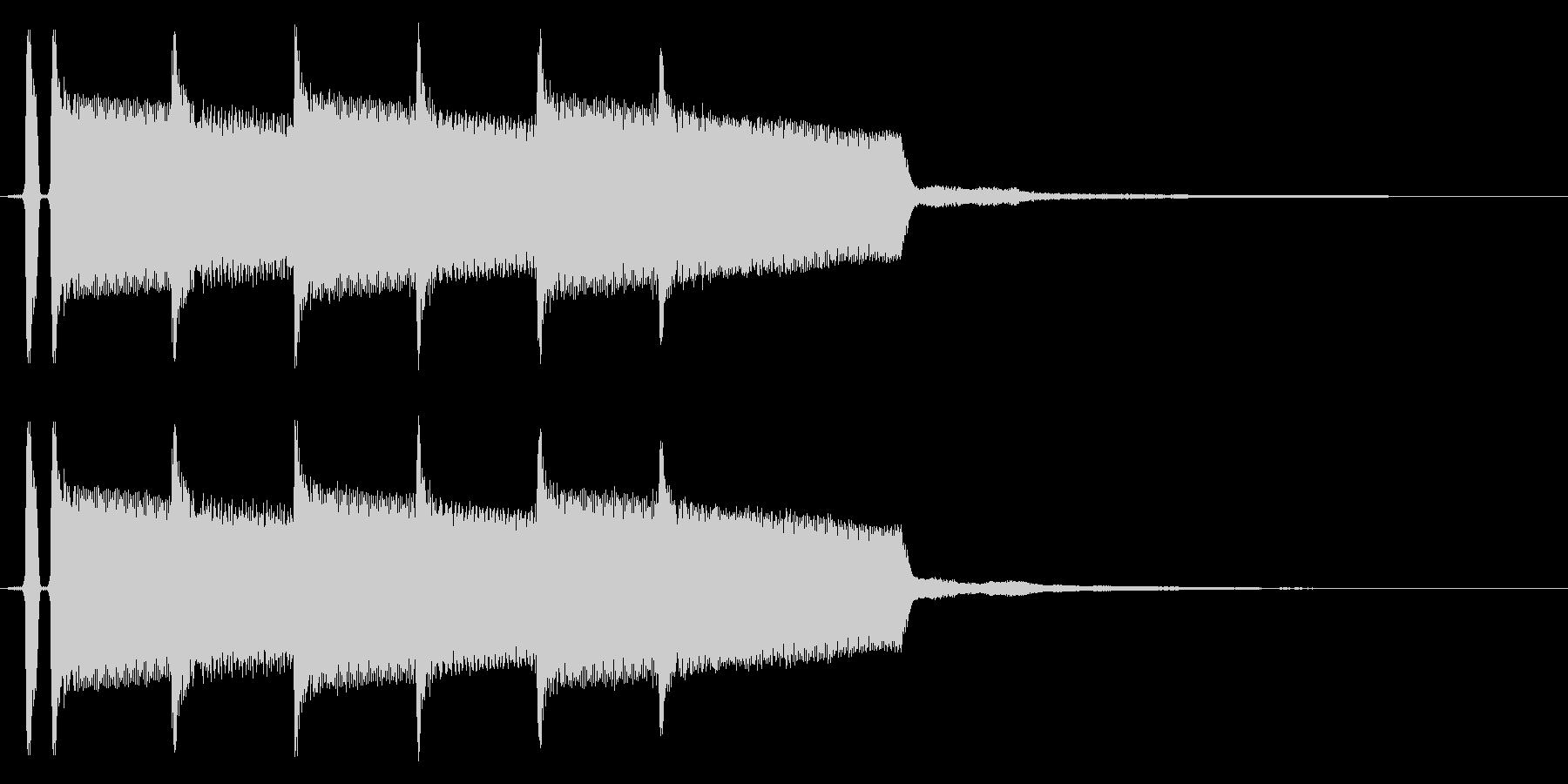 正解音です。の未再生の波形