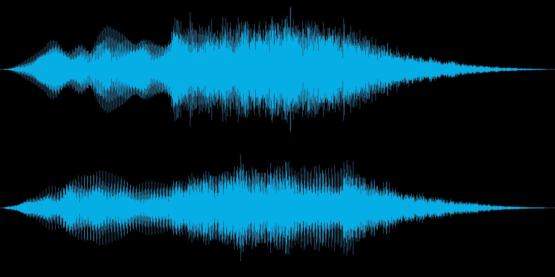 企業名のサウンドロゴの再生済みの波形