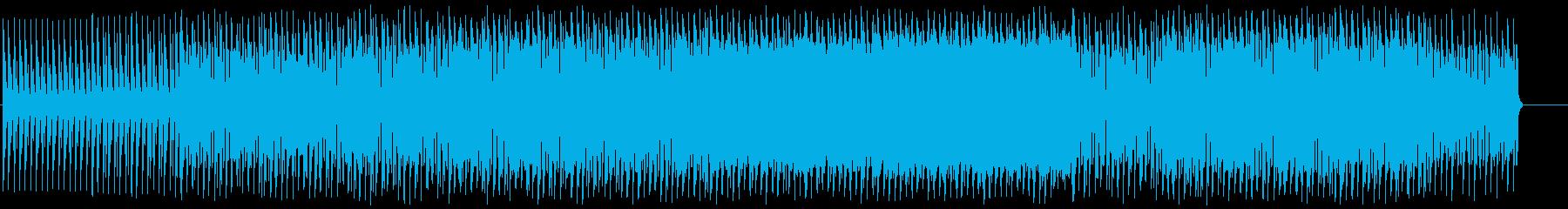 メカニカルでイケイケな軽快テクノの再生済みの波形