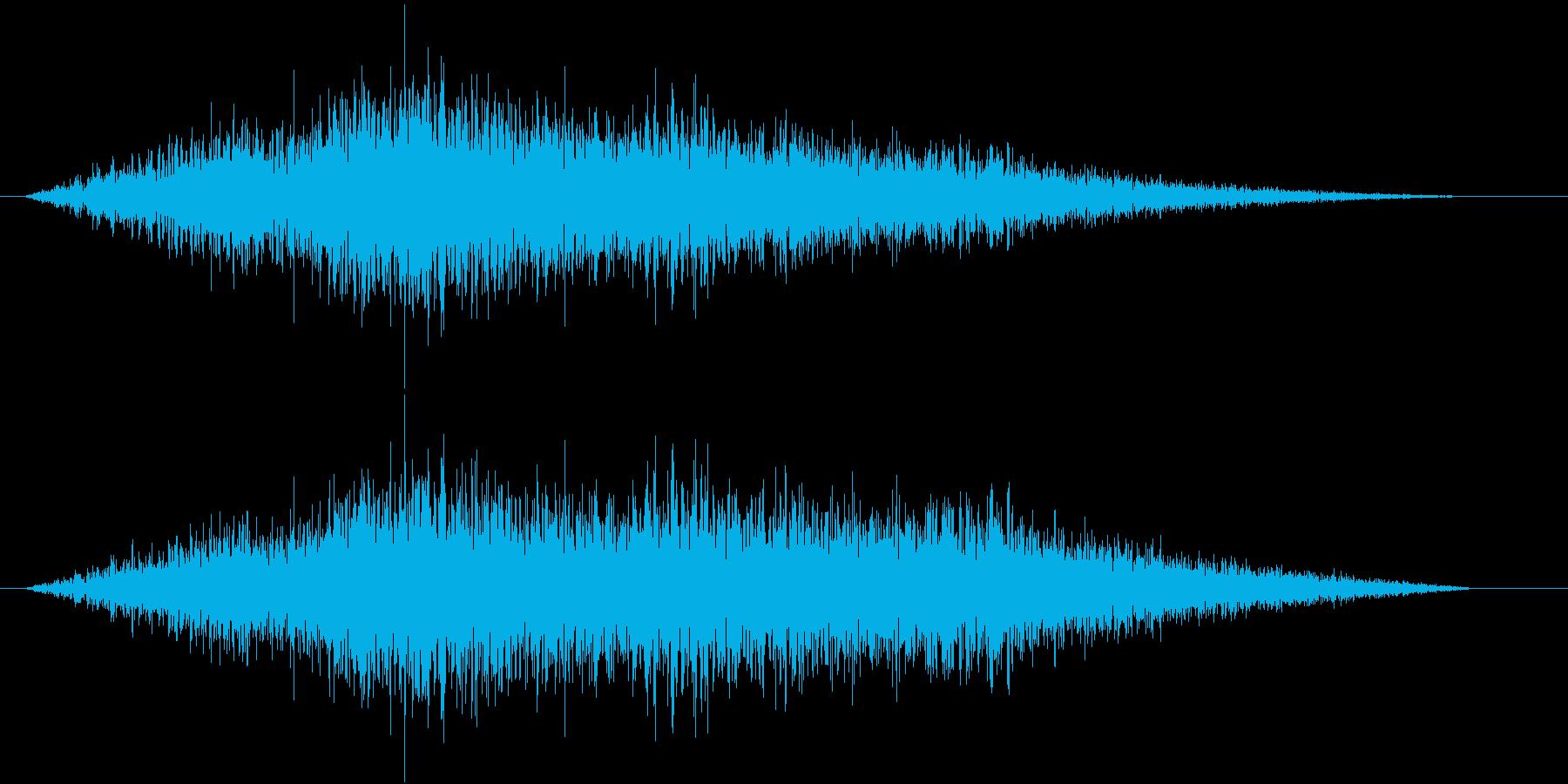 フィーン(左から右)の再生済みの波形