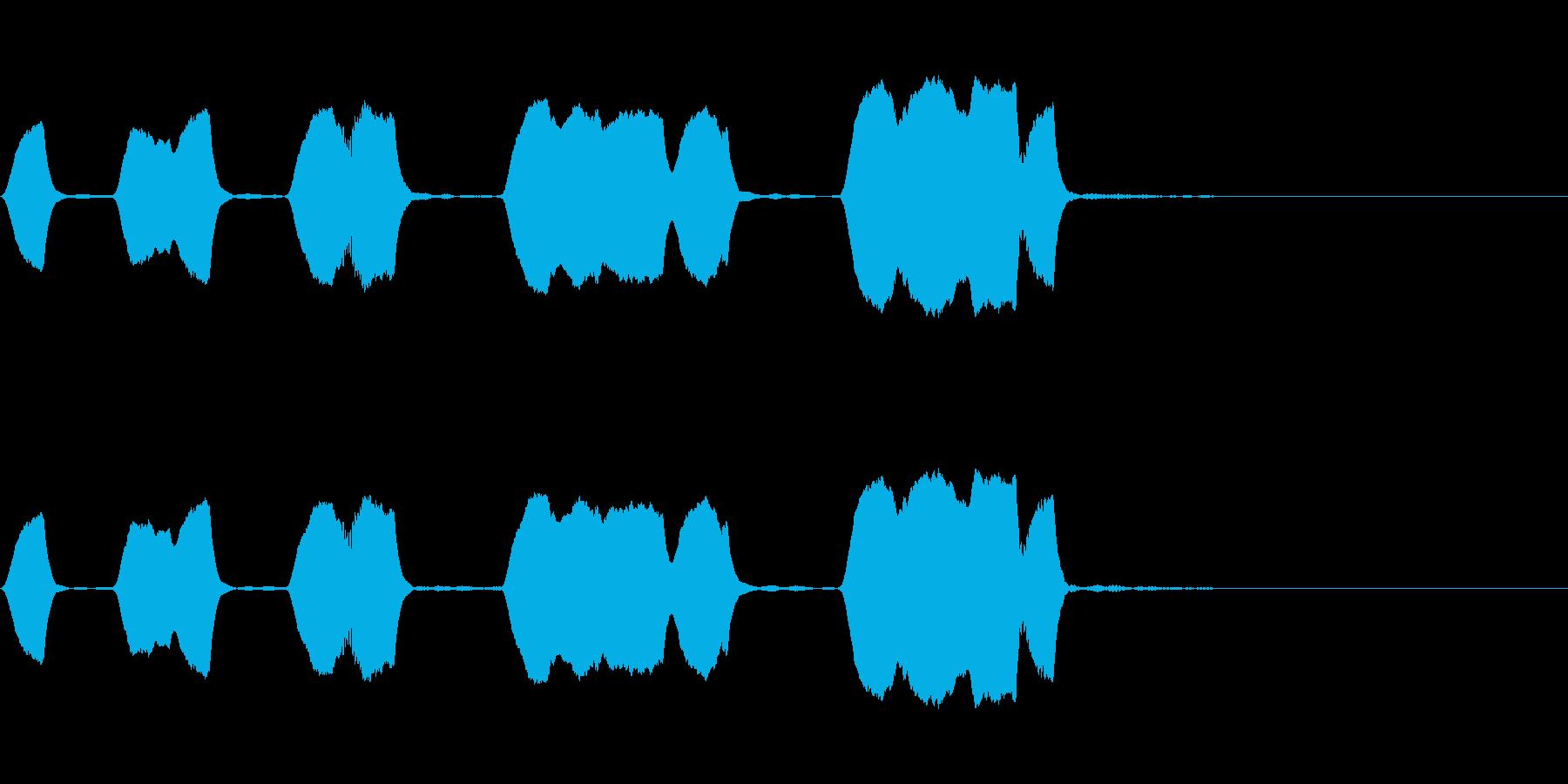 ジングル 口笛 日常 緩いの再生済みの波形