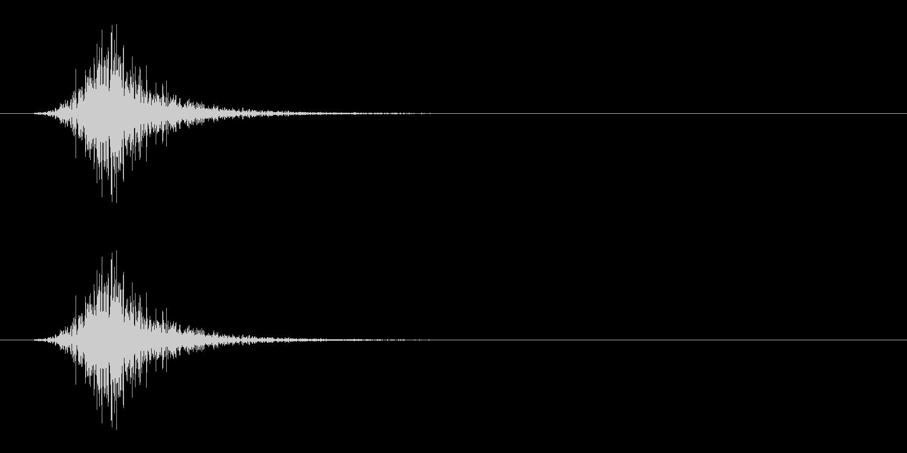 振る/スイング/釣り竿/ラケット/シュッの未再生の波形