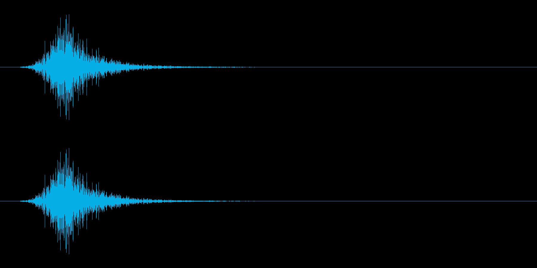 振る/スイング/釣り竿/ラケット/シュッの再生済みの波形