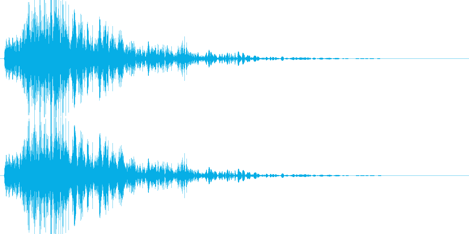 必殺風の斬殺音の再生済みの波形